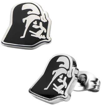 Star Wars FINE JEWELRY Stainless Steel and Enamel Darth Vader Stud Earrings