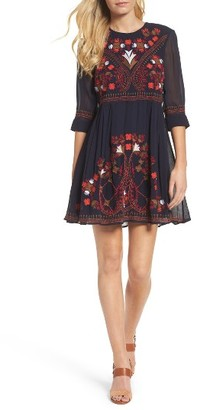 Women's French Connection Colorful Kiko Babydoll Dress $228 thestylecure.com