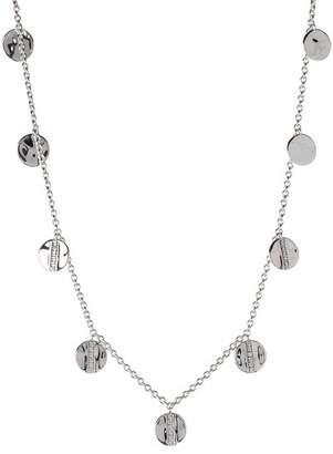 Ippolita Sterling Silver Senso Disc Paillette Necklace - 0.23 ctw