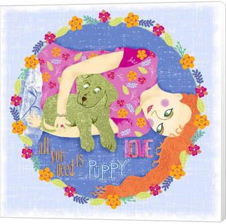 Braun Puppy Love By Lisa Powell Canvas Art