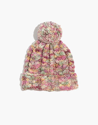 2fdd74d4d9d Madewell x Manos Del Uruguay Space-Dyed Cableknit Pom-Pom Beanie