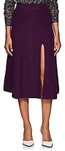 Altuzarra Women's Cavin Cashmere Slit Skirt - Purple