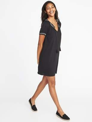 Old Navy Tassel-Tie Embroidered Shift Dress for Women