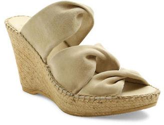 Andre Assous Sun Suede Platform Wedge Espadrille Sandals $169 thestylecure.com