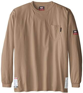 Key Apparel Men's Big-Tall Fire Resistant Long Sleeve Pocket T-Shirt,4X-Large