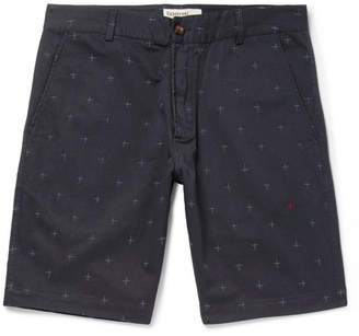 Universal Works Embroidered Cotton-Twill Shorts