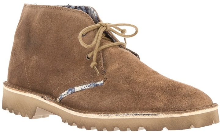 Le Crown lace-up desert boot