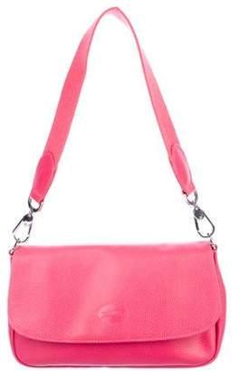 Longchamp Leather Flap Shoulder Bag