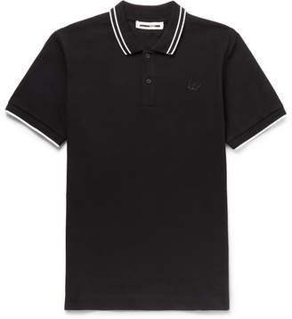McQ Slim-Fit Contrast-Tipped Cotton-Piqué Polo Shirt