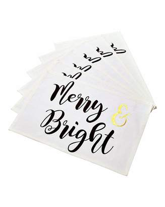 Fashion World Merry & Bright Set of 6 Placemats
