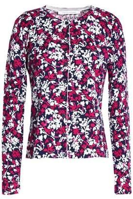 Diane von Furstenberg Floral-Print Cotton And Silk-Blend Cardigan