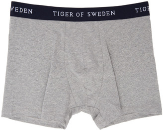 Tiger of Sweden Three-Pack Grey Ohlson Boxer Briefs $100 thestylecure.com
