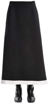 Sonia Rykiel Stretch Wool Knit Midi Skirt