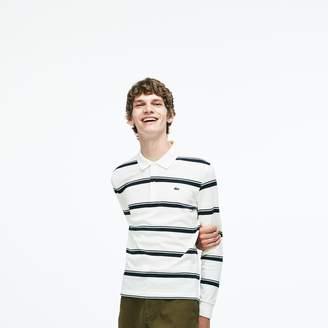 Lacoste Men's Regular Fit Striped Petit Pique Polo