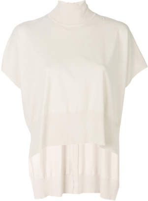 Elisabetta Franchi hi-low turtle neck jumper