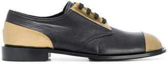 Marni metallic colour block brogues