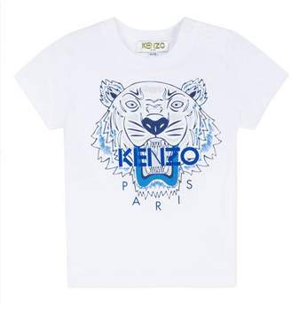 Kenzo Signature Tiger Logo Short-Sleeve Tee, Size 6-18 Months