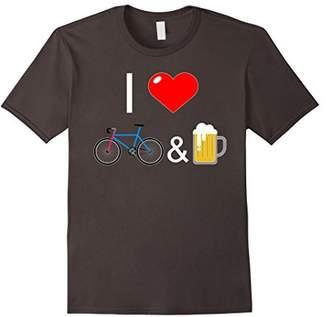 I Love Bikes & Beer T-Shirt - Bicycle Lager Cycling Shirt