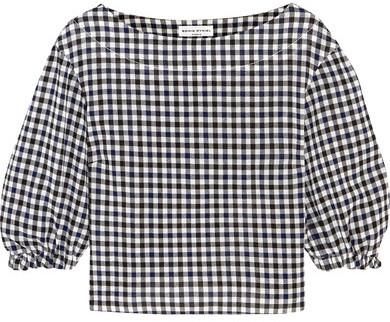 Sonia RykielSonia Rykiel - Checked Wool-crepe Top - Black