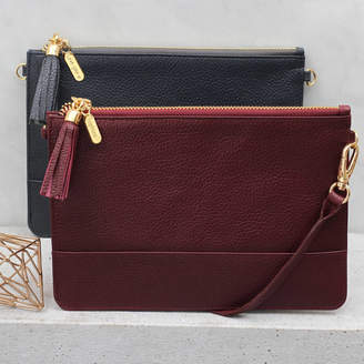 50038be57e36 Hurleyburley Luxury Leather Personalised Clutch Or Shoulder Bag