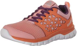 Reebok Kids Sublite XT Cushion 2.0 Running Shoes, Peppy Pink/Vitamin C/White/Aubergine/Silver