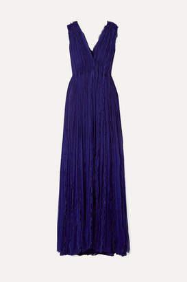 Jason Wu Collection - Plissé-silk Chiffon Gown - Purple