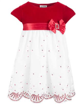 Blueberi Boulevard Baby Girls Velvet & Sequins Dress