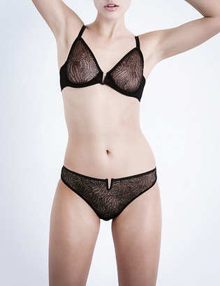 Implicite Pulsion stretch-tulle underwired plunge bra $37 thestylecure.com