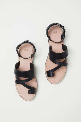 H&M Leather Sandals - Black