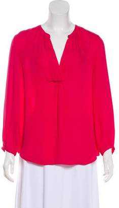 Joie Long Sleeve Silk Blouse