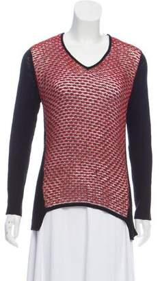 Helmut Lang Open Weave V-Neck Sweater w/ Tags