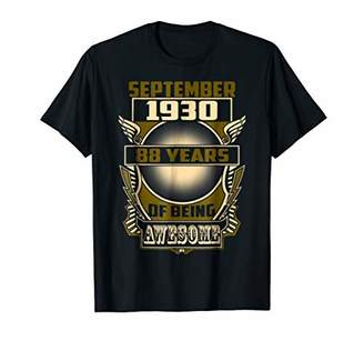 September 1930 88th Years Of Being Awesome Birthday Gift