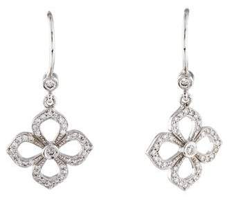 Penny Preville 18K Diamond Flower Petal Drop Earrings