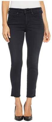 NYDJ Petite Petite Ami Skinny Ankle w/ Slit Fray Hem in Deepwell Women's Jeans