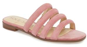 Sole Society Saxten Strappy Slide Sandal