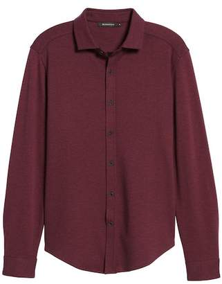 Bugatchi Classic Fit Heathered Knit Sport Shirt