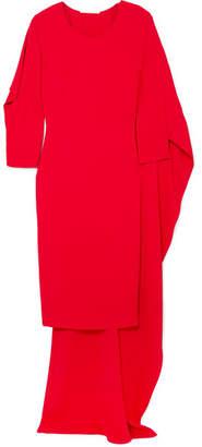 Antonio Berardi Cape-effect Crepe De Chine Dress