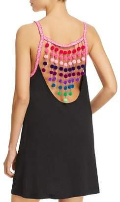 Pitusa Pom-Pom Falls Dress Swim Cover-Up