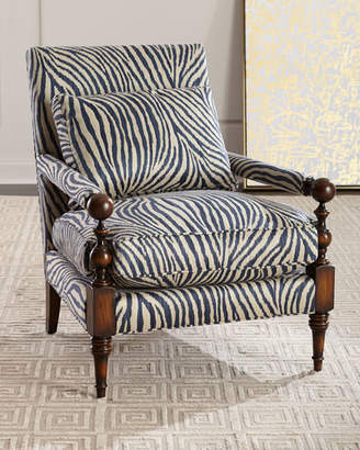 John-Richard Collection Zebra Transitional-Style Arm Chair