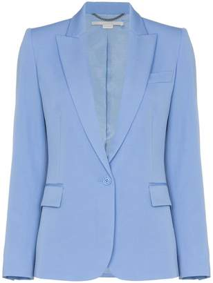 Stella McCartney padded shoulder fitted blazer jacket