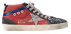 Mid Star Splatter Canvas High-Top Sneakers