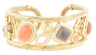 David Yurman 18K Multistone & Diamond Mosaic Cuff