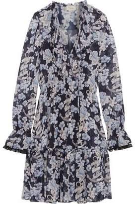 Temperley London Captain Floral-Print Chiffon Mini Dress