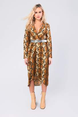 Glamorous Womens **Snake Printed Midi By Yellow