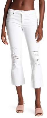 Black Orchid Mia Raw Hem Crop Flare Jeans