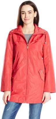 Ellen Tracy Outerwear Women's Packable Rain Coat