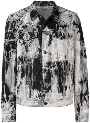 Diesel Black Gold bleached denim jacket