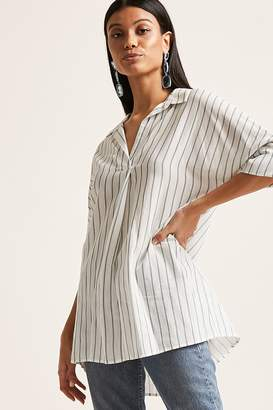 Forever 21 Striped Button-Back Tunic