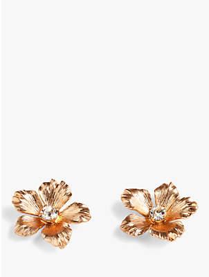 J.Crew Pansy Flower Stud Earrings