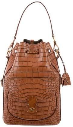 5a953be6c65b ... shop ralph lauren alligator drawstring ricky bag 6e6a7 d87bf